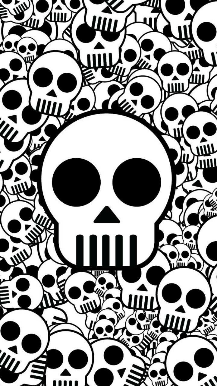 Black And White Skulls Hd Skull Wallpapers Iphone Wallpaper Pattern