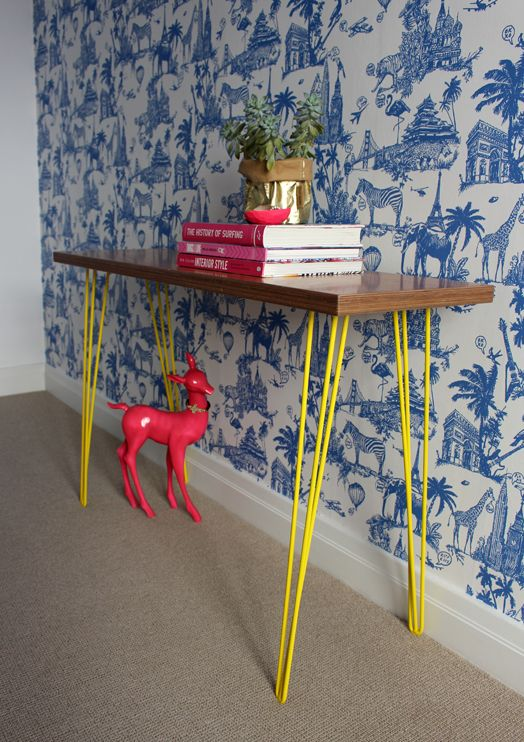 Cush and Nooks: Bibby + Brady Products Hair pin legs in yellow