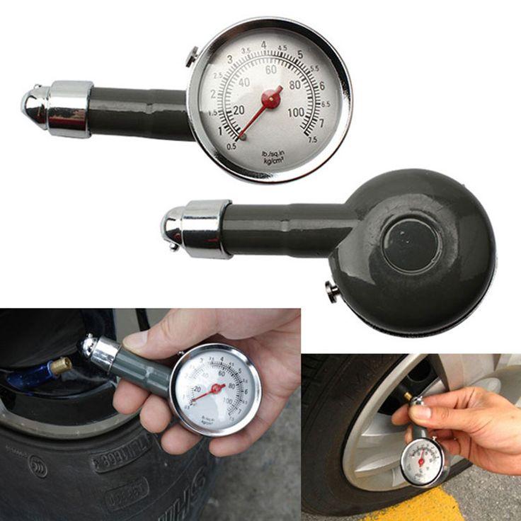 1Pcs Metal Car Tire Pressure Gauge Auto Air Pressure Meter Tester Diagnostic Tool Car Repair Test High Pressure Gauge -- Click the VISIT button to enter the website