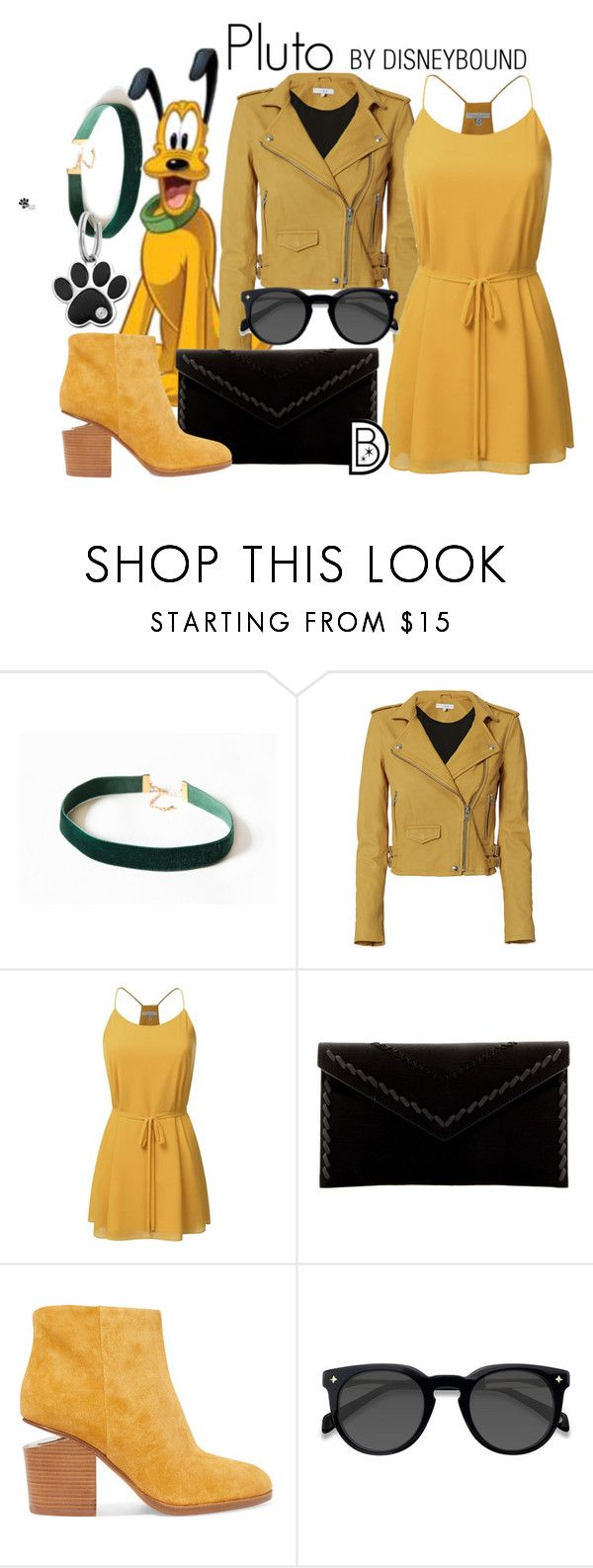 """""""Pluto"""" by leslieakay ❤ liked on Polyvore featuring IRO, Danielle Nicole, Alexander Wang, EyeBuyDirect.com, disney, disneybound and disneycharacter"""