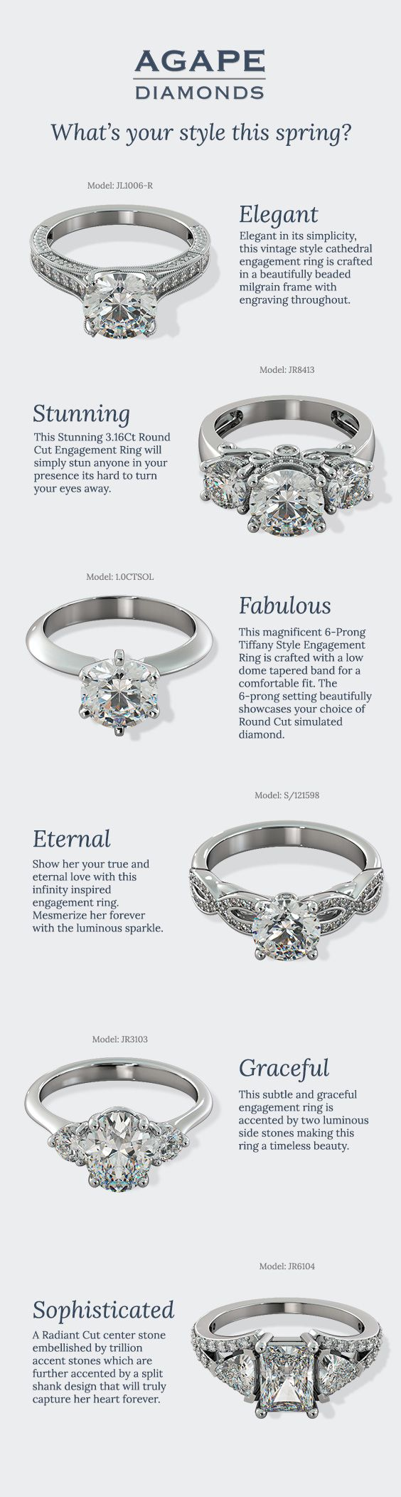 2016 Spring Trending Engagement Ring Styles. What's your style?