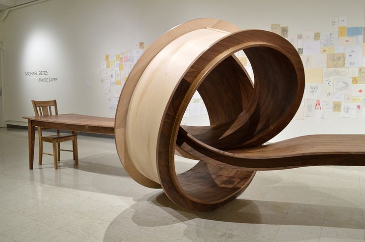 Looping Wooden Table by Michael Beitz
