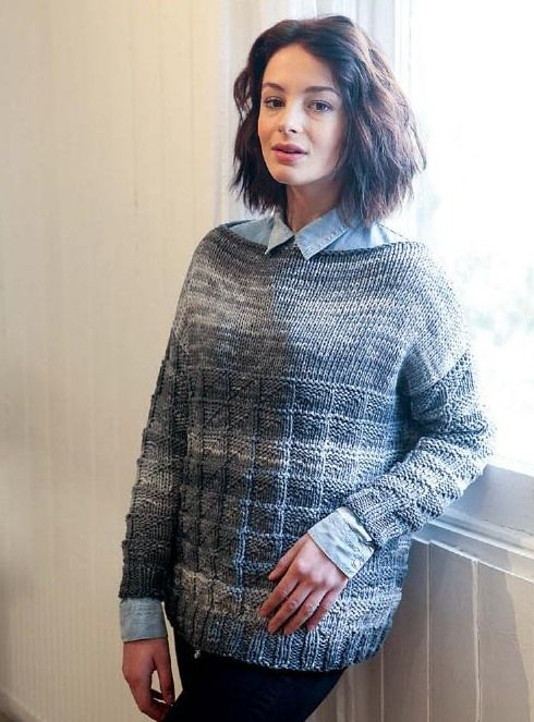 Женский свитер с текстурным узором