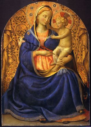 """Fra Angelico: """"Madonna and Child"""" -- my favorite artist who painted during the medieval period"""
