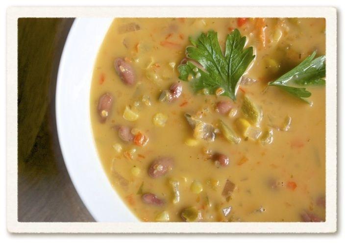 Creamy Fiesta Bean Soup | Beany Soups | Pinterest