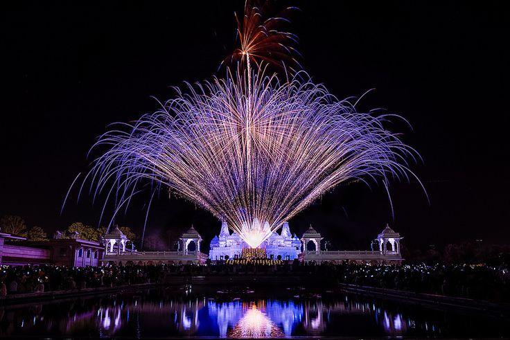 2014 Diwali Fireworks at BAPS Shri Swaminarayan Temple, Atlanta
