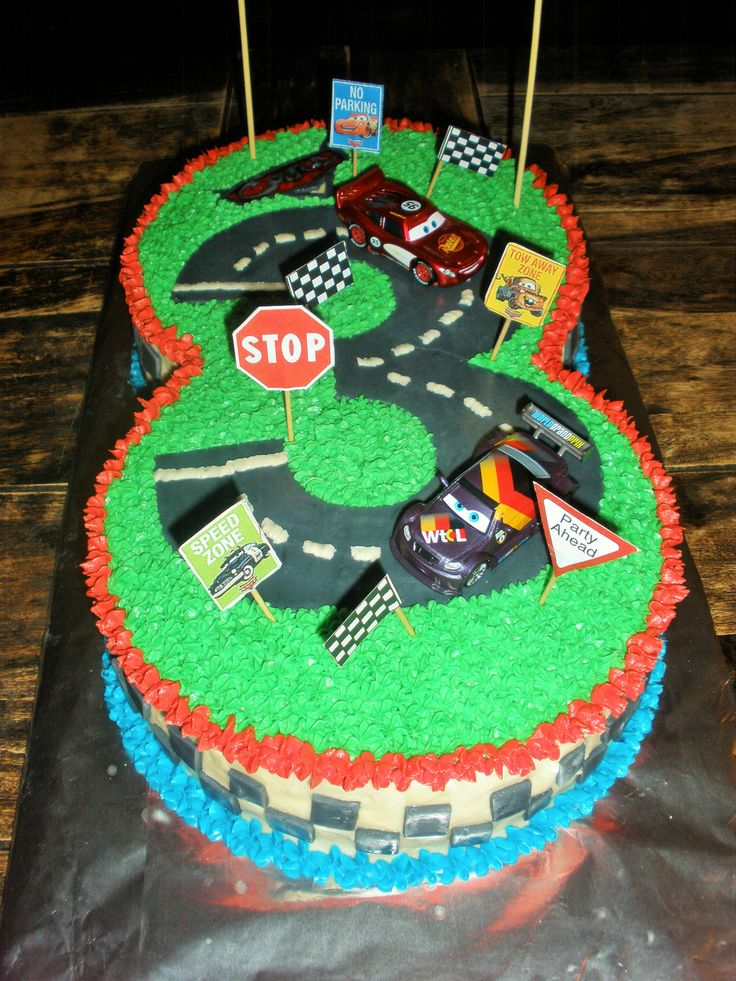 Cars Themed 3rd Birthday Cake Kids Ideas Boys Pinterest