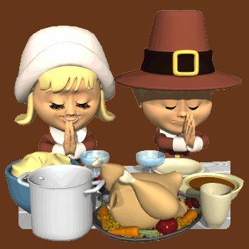 GIFs GIF GIFs Animated Animations Animation Images 3D: Thanksgiving Pilgrim Kids Praying Animated Gif