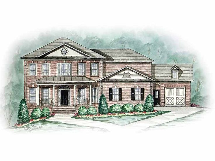 21 best downey home images on pinterest house floor for Federal colonial house plans