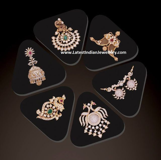 Diamond Pendants Jhumka Collection