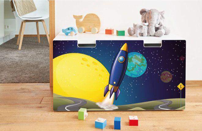 Möbelfolien für die Ikea Stuva Möbel im Kinderzimmer