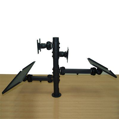 Tygerclaw Lcd6503blk Back To Back Monitor Desk Tv Mount