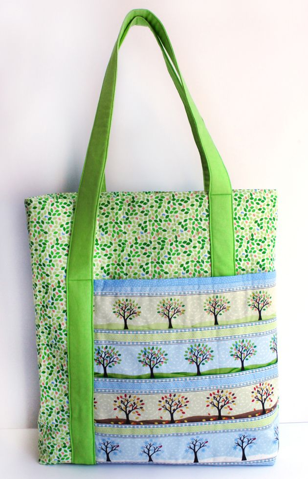 Sew a Season - One Size Fits All Tote - Free PDF + 4 Beginner Free Motion Quilting Tutorials