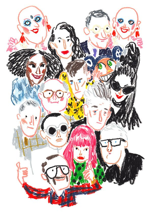 It's Nice That : Illustration: High fashion through the eyes of Damien Cuypers