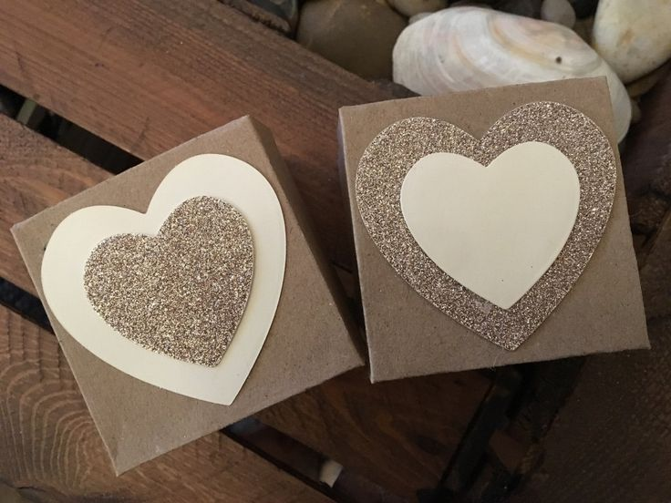 x10 Favour Boxes with Glitter Heart by ShowstopperEvents on Etsy