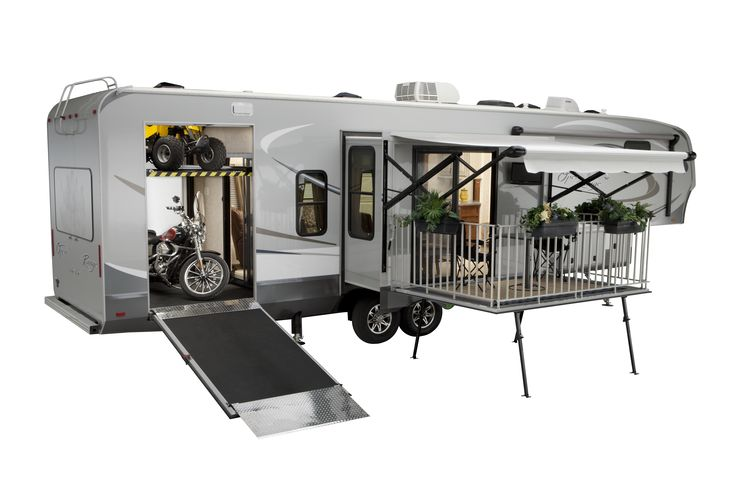 Open Range Rolling Thunder's are a toy hauler and have patio.  How does it get better than this?