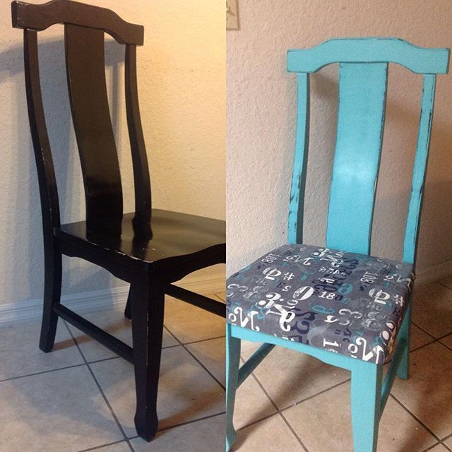 I don't think I can sell something I'm so in love with lol #helpmeletgo #furniturerehab #chair #paintedchair