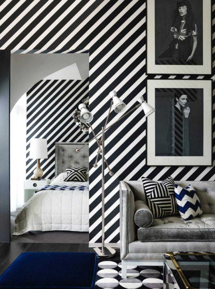10 Fabulous Wallpapers That Will Spruce Up Your Living Room Set | Modern Sofas. Velvet Sofa. Tuxedo Sofa #modernsofas #velvetsofa #livingroomdesign Read more: http://modernsofas.eu/2016/08/09/fabulous-wallpapers-spruce-living-room-set/