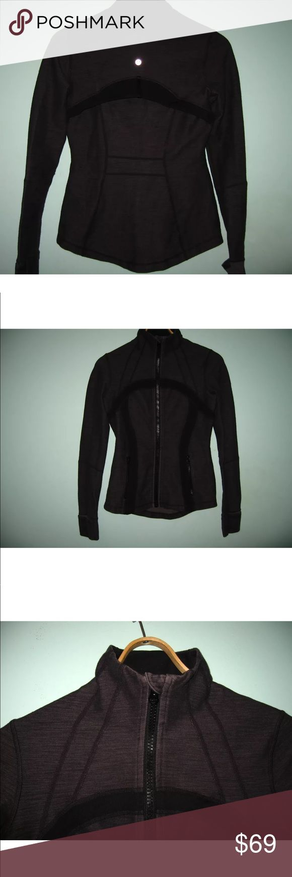 Lululemon define jacket Size 6 grey Lululemon with black Lululemon sign on the jacket. Color is faded grey, good used condition, before purchasing please ask away! lululemon athletica Tops Sweatshirts & Hoodies