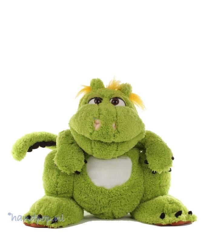 Filippo is een vriendelijke, vliegende draak, hij zou zó uit een animatiefilm gelopen kunnen zijn. Living Puppets handpop groene draak 35 cm hoog.