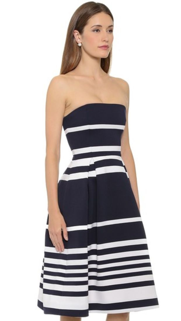 Positano Stripe Ball Dress