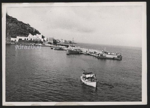 Old postcard, Nisyros port