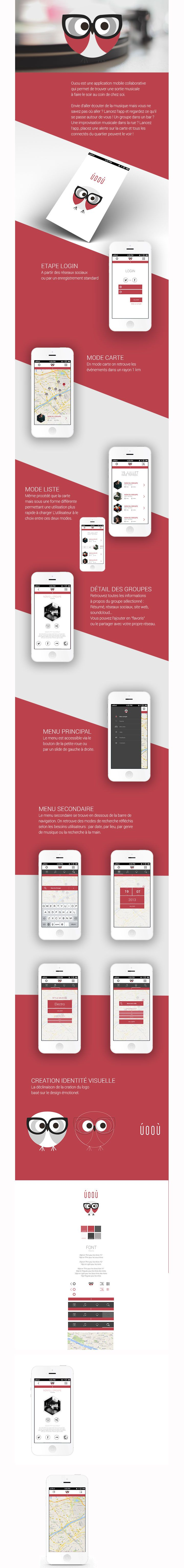 Mobile app design - nice colours and i love the owl logo. #mobile #webdesign #layout #design