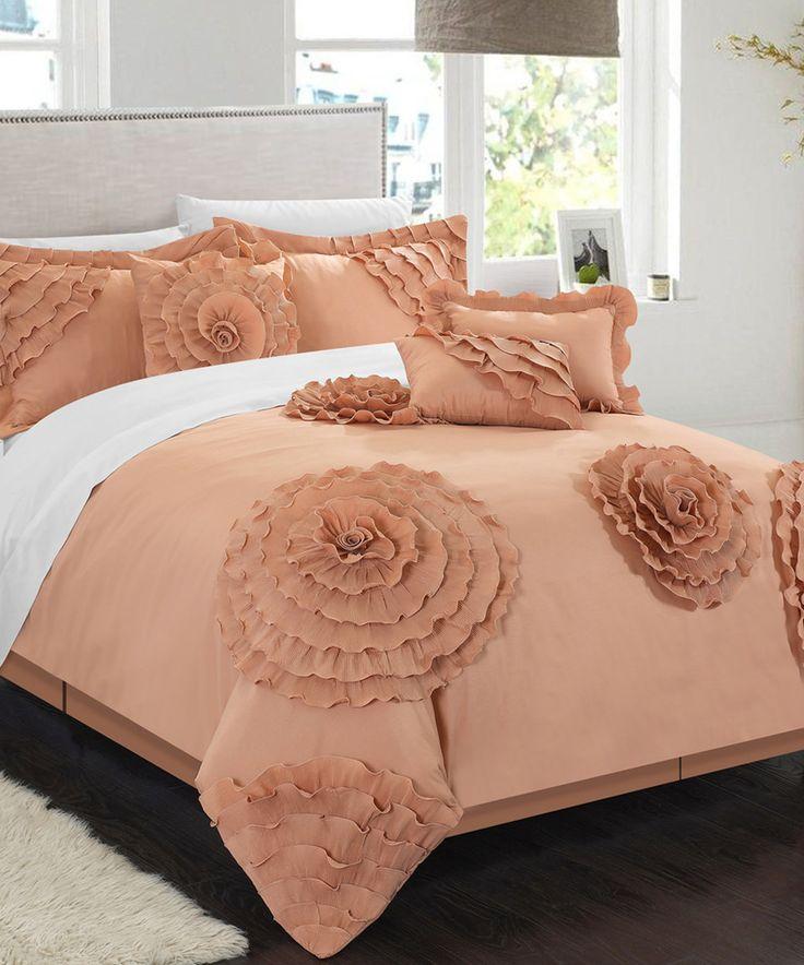 Peach Dartford Comforter Set By Chic Home Design #