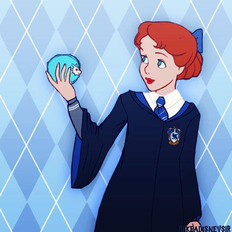 "Disney Women Hogwarts Houses ⚡ Ravenclaw ""↳ Belle, Aurora, Jane, Wendy """