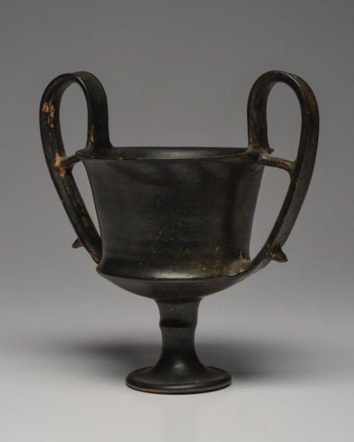 Ancient Campanian Blackware Kantharo Magna Graecia Ca. 350 B.C.    eBay