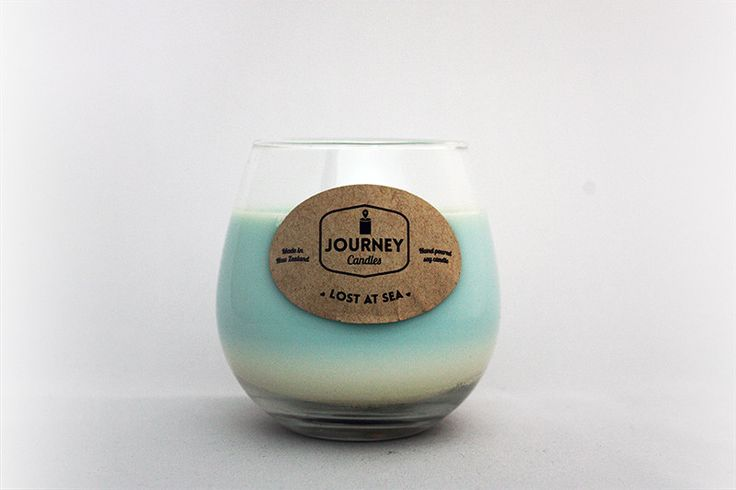 Lost at Sea Wine Glass Candle