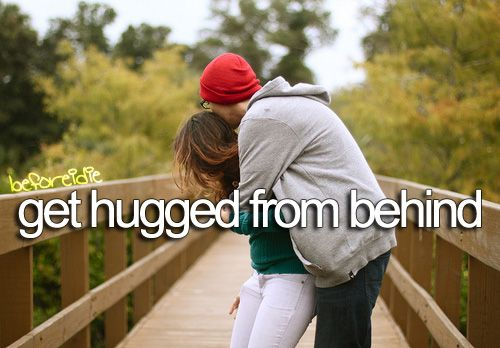 hahaha even if it's just from a friend... these are the best kinds of hugs
