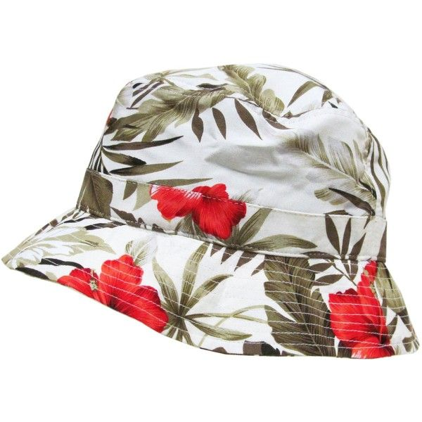 Amazon.com: KBETHOS M-006 Floral Bucket Hat Cap - WHITE: Clothing (40.430 COP) ❤ liked on Polyvore featuring accessories, hats, bucket hat, floral bucket hat, cap, fishing hats and floral print hat