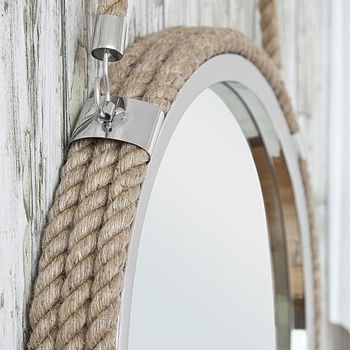 Round Rope Mirror With Rope Hanger