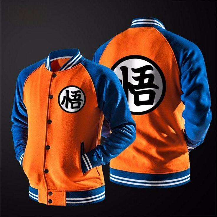 Dragon Ball Z BaseBall Jacket   Tag a friend who would love this!   FREE Shipping Worldwide   Buy one here---> https://www.shenronstore.com/new-japanese-anime-dragon-ball-goku-varsity-jacket-fall-casual-hoodie-jacket-coat-brand-baseball-jacket/