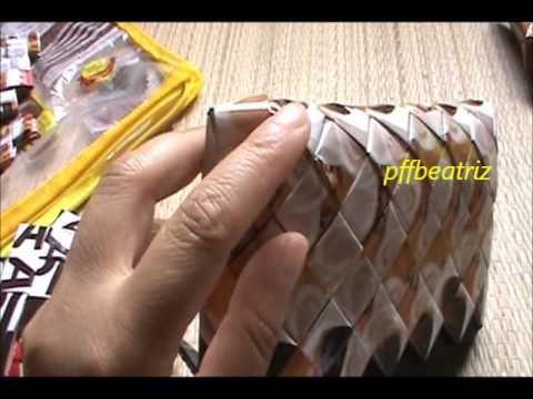 como fazer o fundo da bolsa, reciclagem c/emb.de café - YouTube