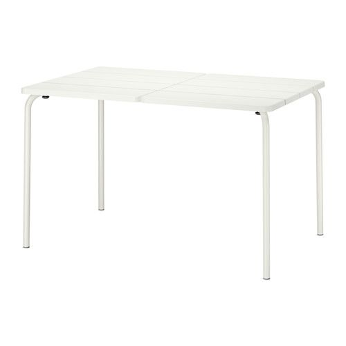 IKEA - VÄDDÖ, Table, outdoor, , The table is durable and easy to care for since it is made of powder-coated steel and plastic.The table will look fresher and last longer, as the plastic is both fade resistant and UV stabilized to prevent cracking and drying out.Easy to keep clean – just wipe with a damp cloth.