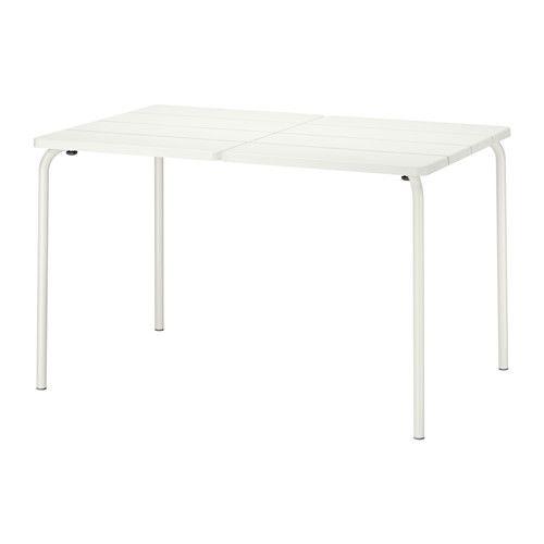 IKEA - VÄDDÖ, Bord, utendørs, , Bordet er slitesterkt og enkelt å vedlikeholde, siden det er laget av pulverlakkert stål og plast.Bordet kommer til å holde seg pent og holde lenger, siden plasten ikke falmer og er UV-stabilisert for å hindre sprekkdannelse og uttørking.Enkel å holde ren – tørk av med en fuktig klut.