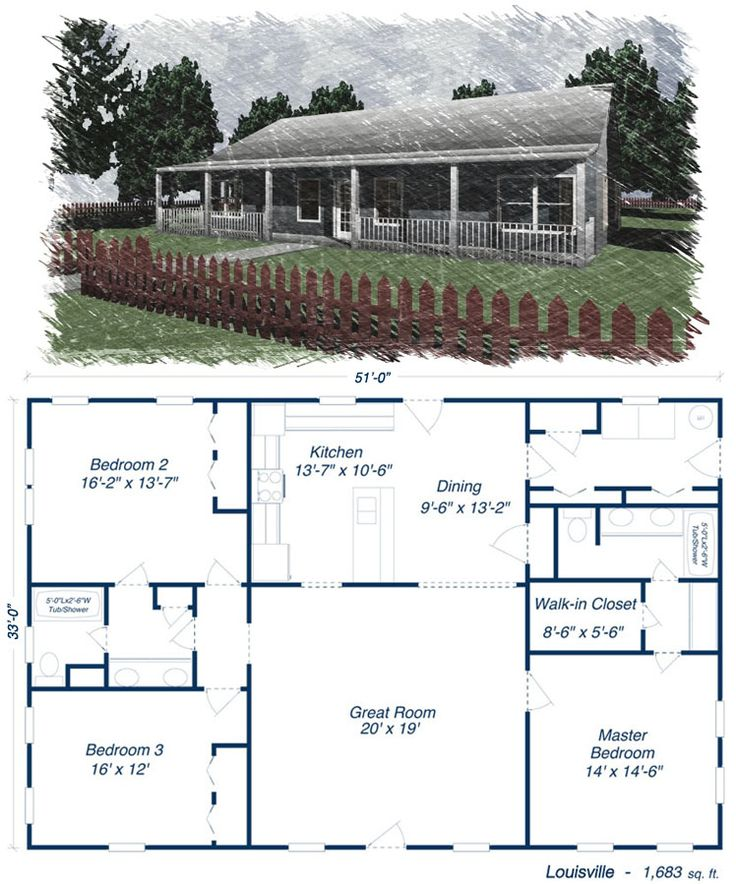 Great Louisville Metal House Kit Steel Home