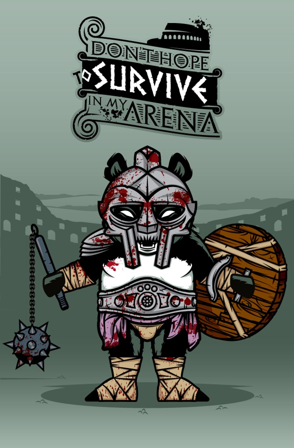 """""""DOKU"""" The Giant Panda  GLADIATOR  Don't hope to survive in my arena."""