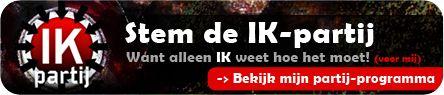 3 nieuwe politieke partijen: De IK-partij, alleen voor mij! http://naturerunswild.com/3-nieuwe-politieke-partijen.php