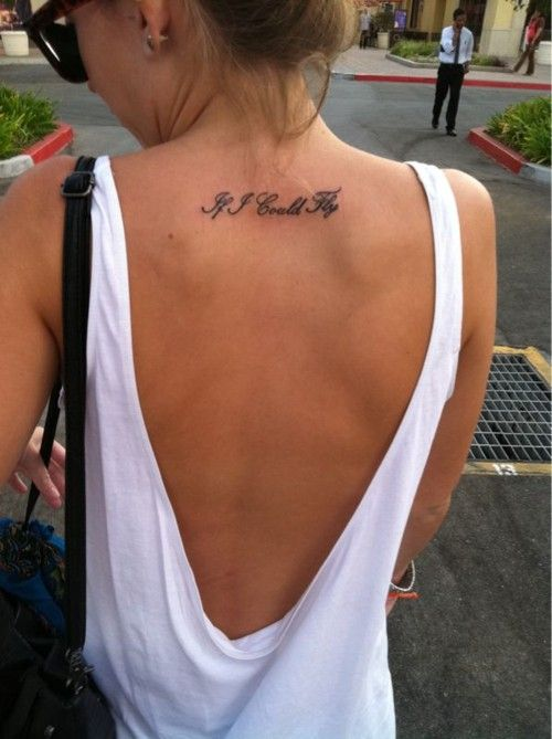 Placement, with thinner font, pretty cursive font and different quote