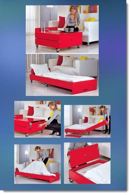 Clase magistral.  Muebles con sus propias manos.  Dos en uno: una mesa y una cama para invitados