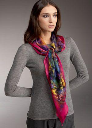 Resultado de imagen de pañuelos seda de mujer de color