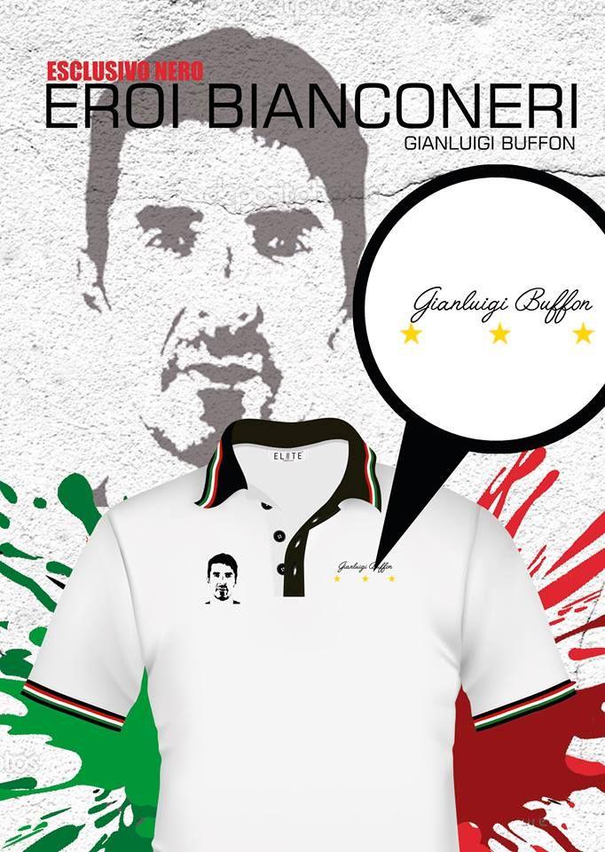Juve polo style, nuestro actual capitano Gianluigi Buffon. Envíos a todo el país.