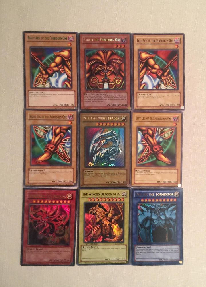 YuGiOh EXODIA! GOD Cards! and Much More ALL RARE 15  Card Lot! HOLOS + #Konami