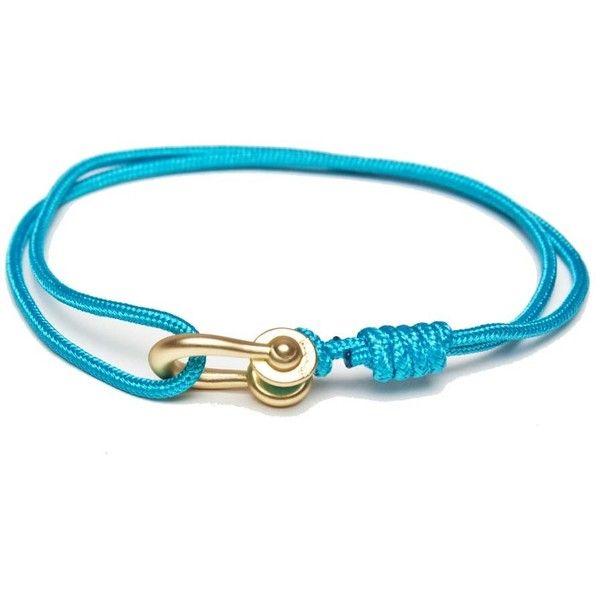 Kapok kalymnos bracelet solid light blue gold (2.590 RUB) ❤ liked on Polyvore featuring men's fashion, men's jewelry, men's bracelets, mens yellow gold bracelets and mens gold bracelets