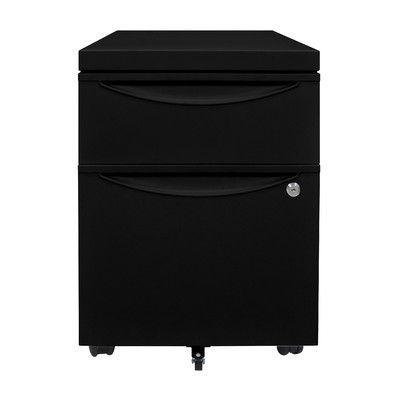 Luxor 2 Drawer Mobile Pedestal File Cabinet Finish: