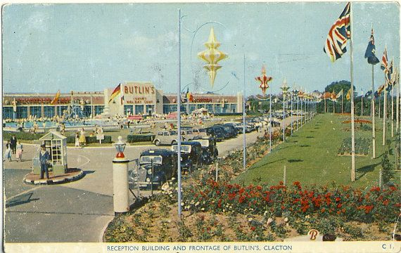 1950s BUTLINS Clacton Collectable Postcard by PatternaliaVintage