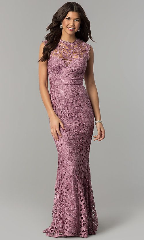 Long Embroidered Lace Formal Wedding Guest Dress Cheap Wedding